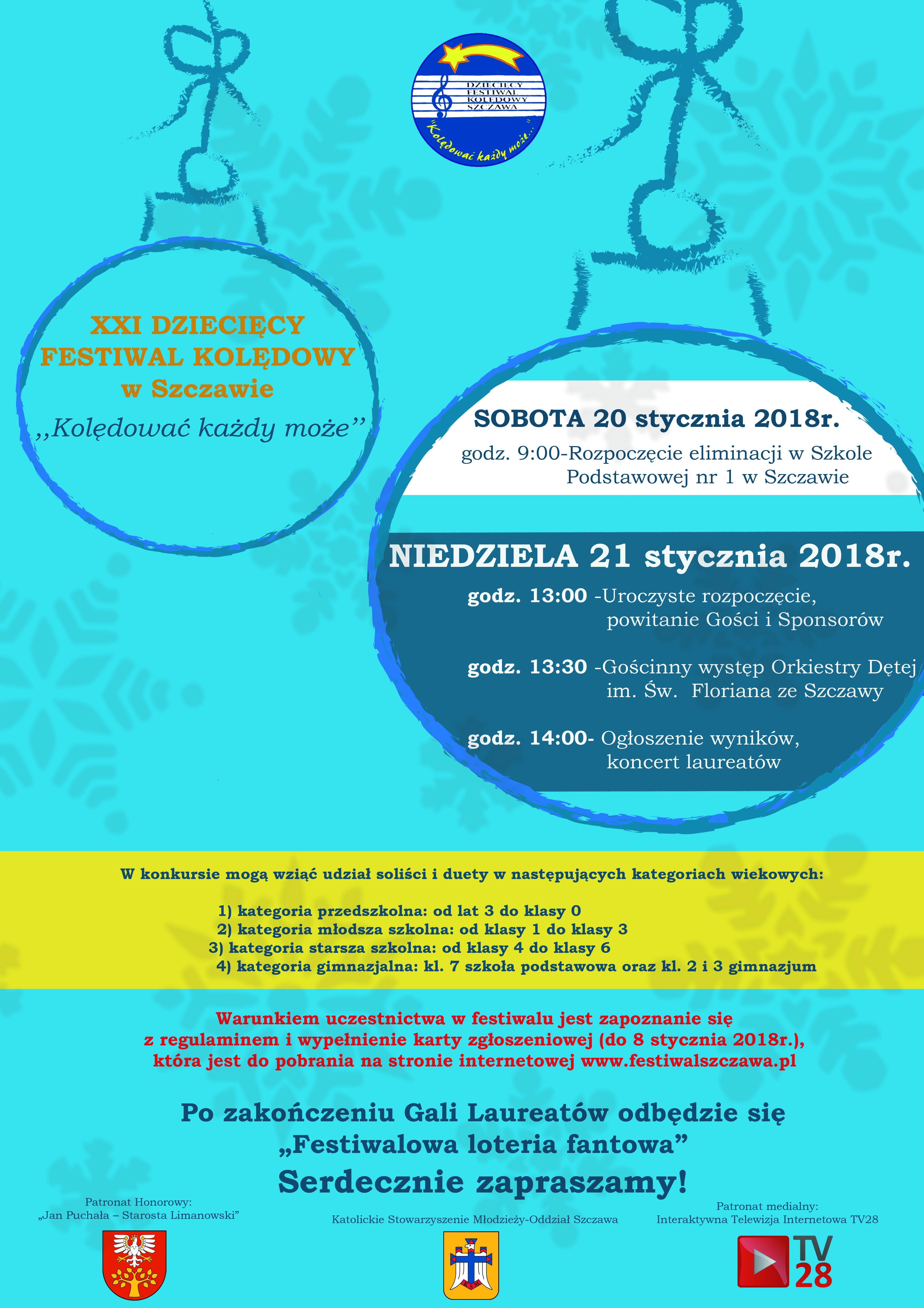 Plakat XXI Festiwal wSzczawie