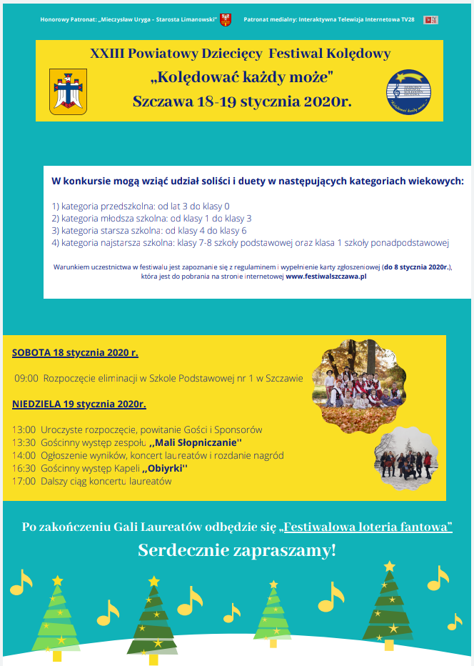 XXIII Powiatowy Festiwal Kolędowy
